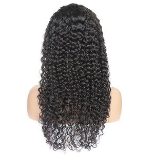 Curly Hair 4*4 Lace Closure Wig 100% Virgin Remy Human Hair Wigs
