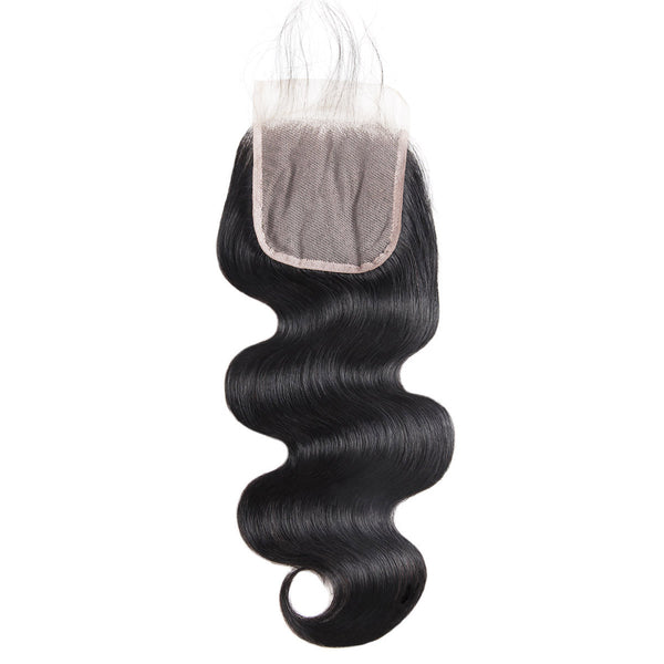 Allove 4*4 Transparent Swiss Lace Body Wave Lace Closure : ALLOVEHAIR