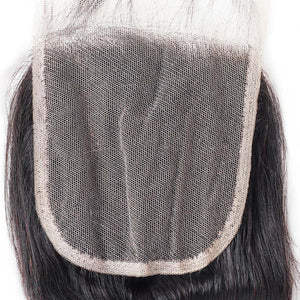 Allove 4*4 Transparent Swiss Lace Straight Hair Lace Closure : ALLOVEHAIR