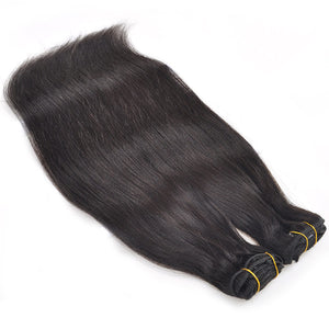Allove Hair Straight Hair Clip In Hair Extensions 7 Pieces/Set Natural Black Color : ALLOVEHAIR