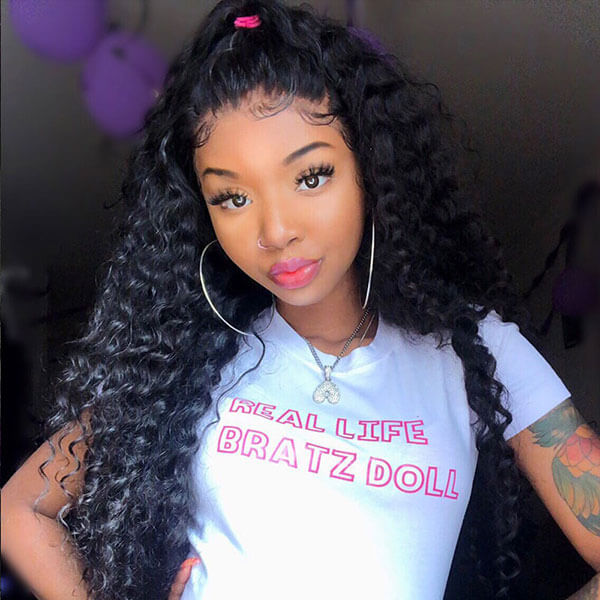 Brazilian Deep Wave 3 Bundles Virgin Human Hair Extensions : ALLOVEHAIR