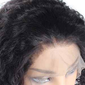 Kinky Curly Hair Wig Short Bob Wig 4*4 Lace Closure Human Hair Wigs
