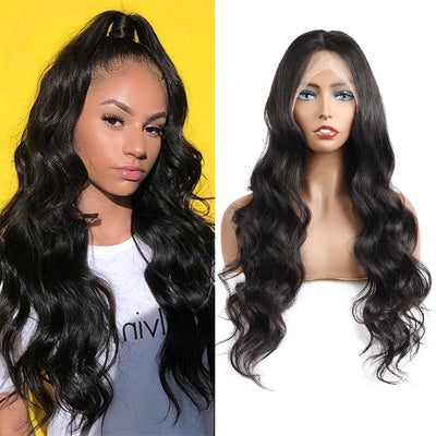 Body Wave HD Transparent 13*4 Lace Front Wig 10A Grade Virgin Remy Human Hair : ALLOVEHAIR