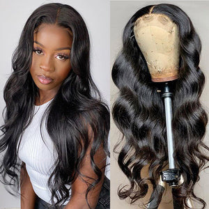 HD Transparent Body Wave Hair 13*4 Lace Front Human Hair Wigs 150% Denisty