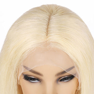 Allove Hair 613 Blonde Lace Frontal Straight Short Bob Human Hair Wig : ALLOVEHAIR