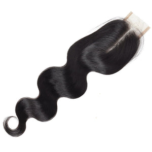 Body Wave 3 Bundles With 2*4 Lace Closure Unprocessed Human Hair Extensions : ALLOVEHAIR