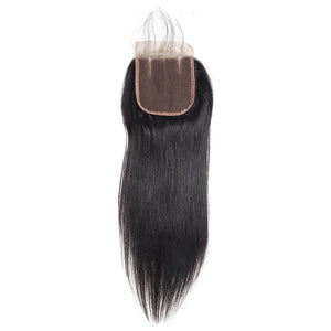 Allove Hair Peruvian Straight Hair 4 Bundles With 4*4 Lace Closure : ALLOVEHAIR