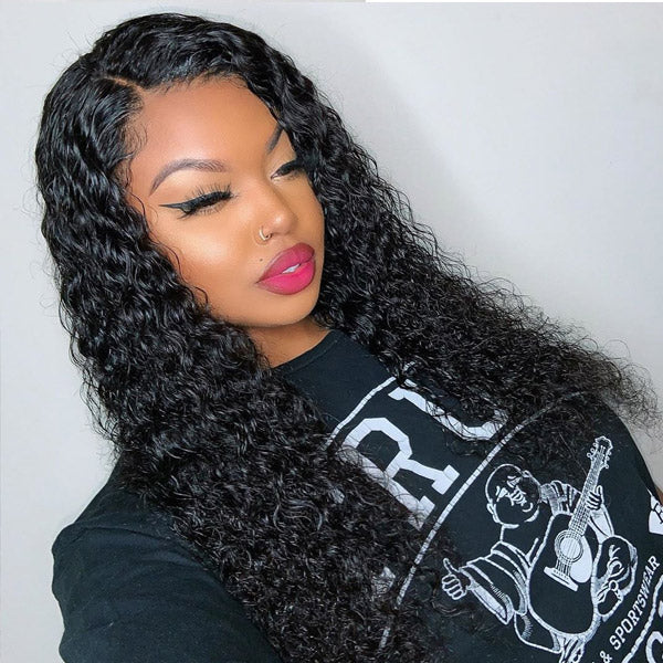 Indian Deep Wave 3 Bundles with 13*4 Lace Frontal Virgin Human Hair : ALLOVEHAIR