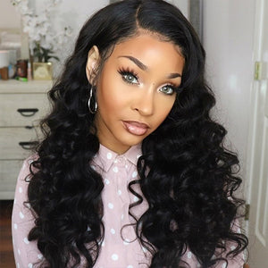Loose Wave Hair 4*4 Lace Front Wig Virgin Remy Human Hair : ALLOVEHAIR