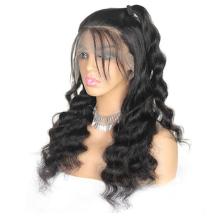 Allove Hair 13*6 Loose Deep Wave Hair Lace Front Remy Human Hair Wigs 150% Density : ALLOVEHAIR