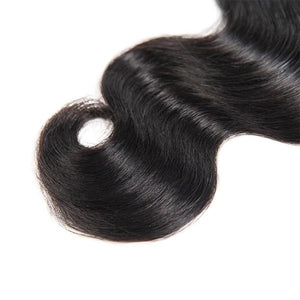 Malaysian Body Wave 3 Bundles with 4*4 Lace Closure Human Hair