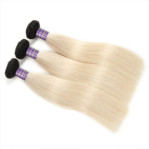 New Arrival 1B/613 Ombre Hair Weaves Straight Virgin Remy Hair 3 Bundles : ALLOVEHAIR