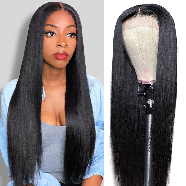 Straight Hair HD Transparent 13*4 Lace Front Human Hair Wigs 150% Denisty