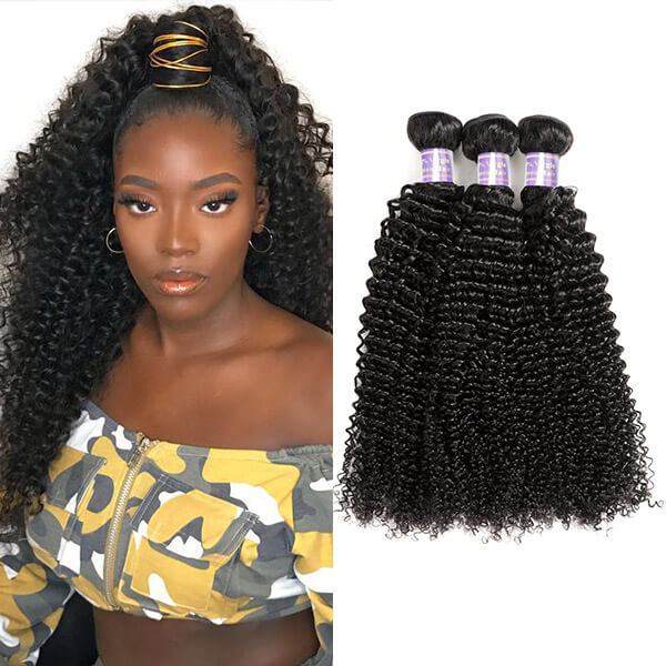Allove Hair Peruvian Curly Wave 3 Bundles Virgin Human Hair : ALLOVEHAIR