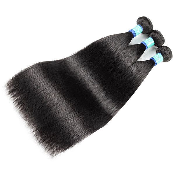 Allove Hair 10A Remy Brazilian straight 3 Bundles Human Hair : ALLOVEHAIR