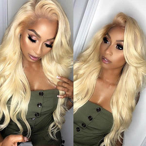 613 Blonde Color Body Wave Wig T-Part Lace Wig Human Hair Wigs Allove Hair