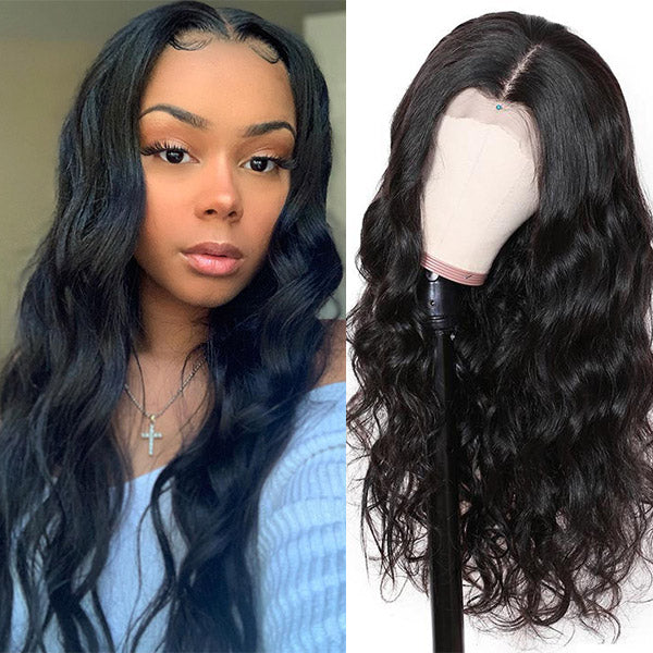 Allove Hair Body Wave Hair T-Part Lace Front Wig