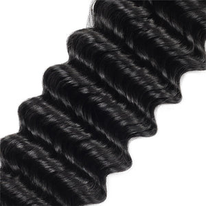Allove Hair 10A Brazilian Deep Wave 3 Bundles Human Remy Hair : ALLOVEHAIR