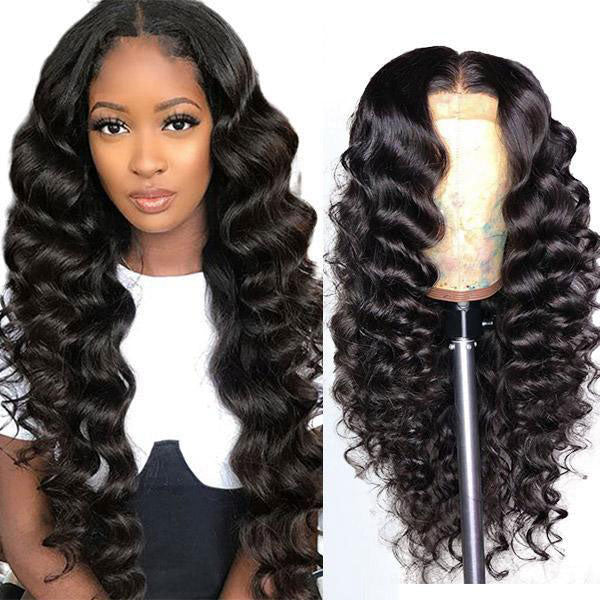 Loose Deep Wave Hair T-Part Lace Front Wig