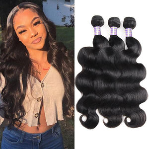 Malaysian Body Wave 3 Bundles Human Hair Extensions Allovehair