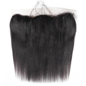 Brazilian Straight Hair 3 Bundles with 13*4 Lace Frontal Virgin Human Hair : ALLOVEHAIR
