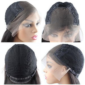4*4 Deep Wave Short Bob Wig Lace Closure Human Hair Wigs