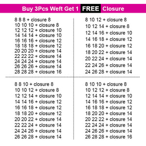 Allove Hair Buy 3 Bundles Loose Wave Hair Get 1 Free Lace Closure