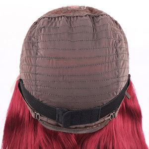 Allove 99J Lace Wigs Burgundy 13*4 Lace Part Wig 100% Human Hair Wigs