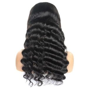 Loose Deep Wave Hair 4*4 Lace Closure Wig Virgin Remy Human Hair Allove Hair