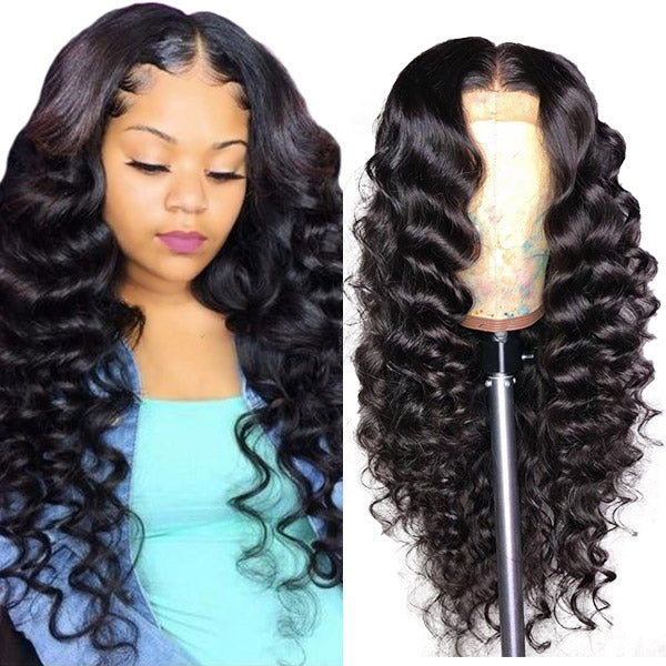 Loose Deep Wave Hair 4*4 Lace Closure Wig