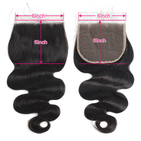 Body Wave 6*6 Lace Closure Virgin Hair Allove Hair : ALLOVEHAIR