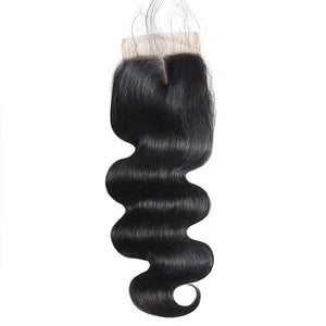 Allove Hair Brazilian Body Wave 3 Bundles with Lace Closure Human Hair