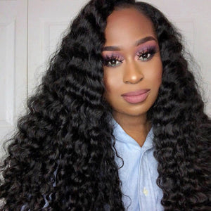Allove Hair Brazilian Deep Wave 4 Bundles Virgin Human Hair : ALLOVEHAIR
