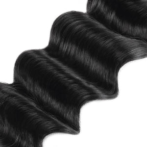 Allove Hair Indian Loose Deep Wave 3 Bundles Virgin Hair Extensions : ALLOVEHAIR