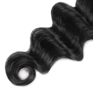 Allove Hair Indian Virgin Hair Loose Deep Wave 4 Bundles Human Extensions : ALLOVEHAIR