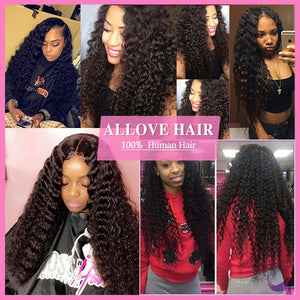 Indian Deep Wave 3 Bundles Virgin Human Hair Extensions-Allove Hair