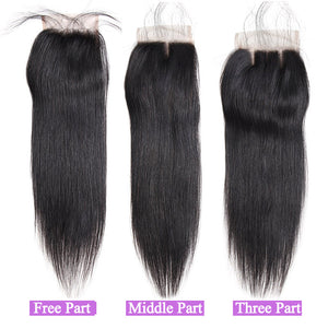 Allove Hair Wholesale 10 Bundles Straight 4x4 Lace Closure : ALLOVEHAIR
