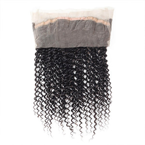 Allove Hair 8A Grade Kinky Curly 360 Lace Closure Virgin Human Hair : ALLOVEHAIR