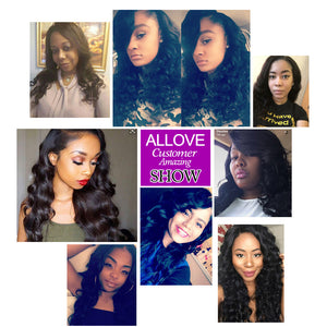 Allove Hair Virgin Brazilian Loose Wave 4 Bundles Human Hair Weave Extensions : ALLOVEHAIR