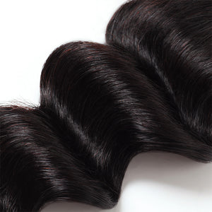 Loose Deep Wave 4*4 Lace Closure Virgin Human Hair : ALLOVEHAIR