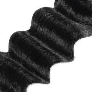Allove Hair Buy 3 Bundles Loose Deep Wave Hair Get 1 Free Lace Closure : ALLOVEHAIR