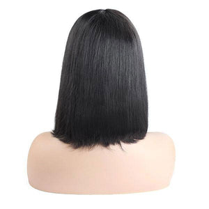 Allove Straight Hair Wig Short Bob 4*4 Lace Closure Wig 150% Density