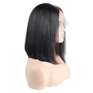 Allove Straight Hair Wig Short Bob Wig 100% Virgin Human Hair Wigs