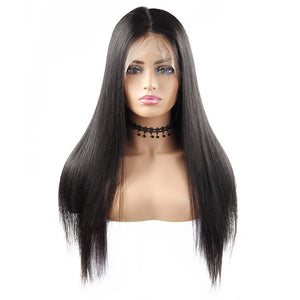 Straight Hair 360 Lace Frontal Wig 100% Virgin Remy Human Hair Wigs : ALLOVEHAIR