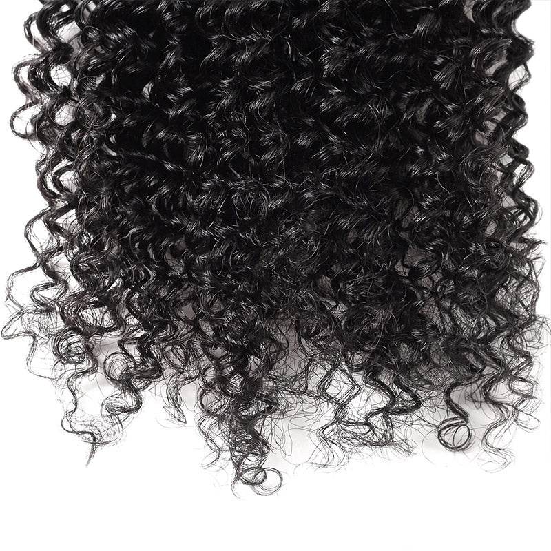 Allove Hair Indian Kinky Curly 3 Bundles Virgin Human Hair : ALLOVEHAIR
