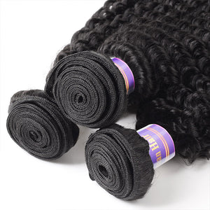Allove Hair Malaysian Curly Wave 4 Bundles Virgin Human Hair : ALLOVEHAIR