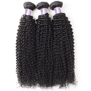 Allove Hair Get One FREE Closure Buy 3 Bundles Kinky Curly Unprocessed Hair Extensions : ALLOVEHAIR