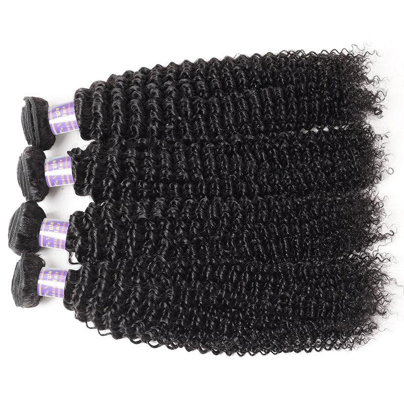 Allove Hair Indian Kinky Curly 4 Bundles Human Hair : ALLOVEHAIR
