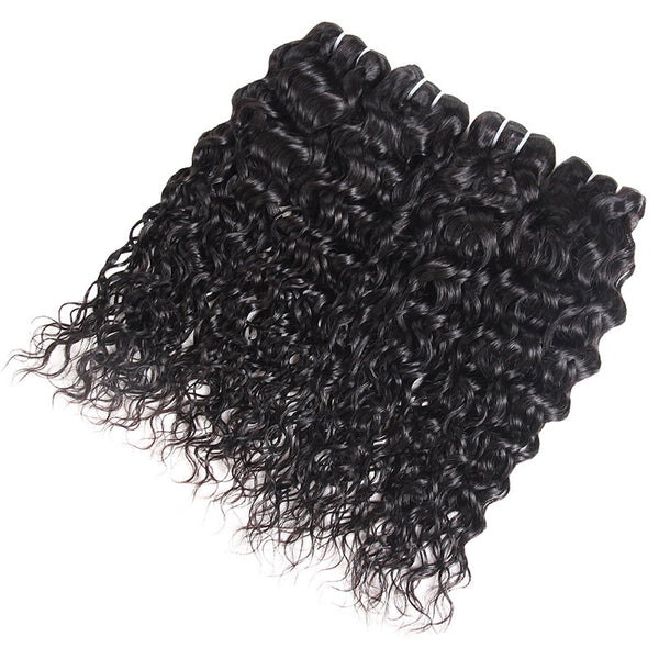 Allove Hair Malaysian Water Wave 4 Bundles Human Hair Weaves : ALLOVEHAIR