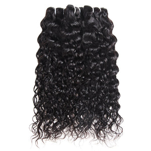 Allove Hair Brazilian Water Wave 3 Bundles Virgin Human Hair : ALLOVEHAIR